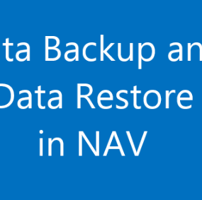 data backup and data restore in nav