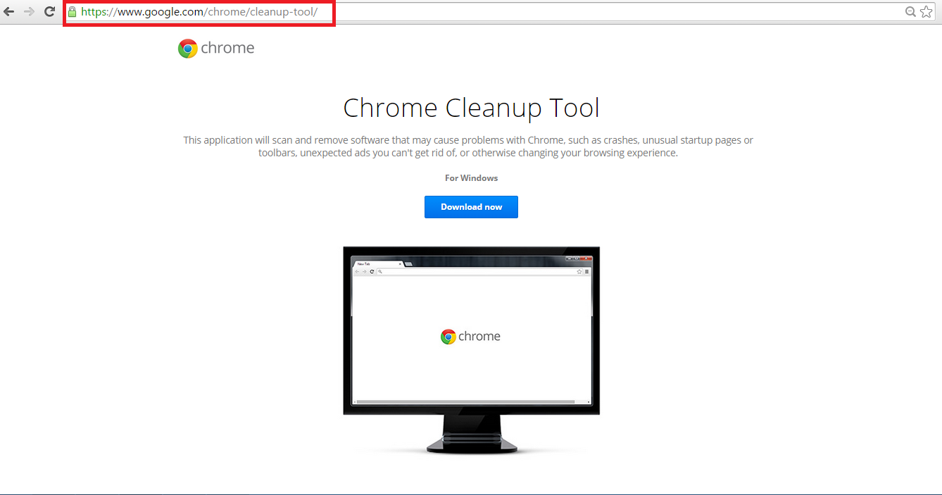 download chrome cleanup tool