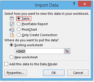 how to select import method